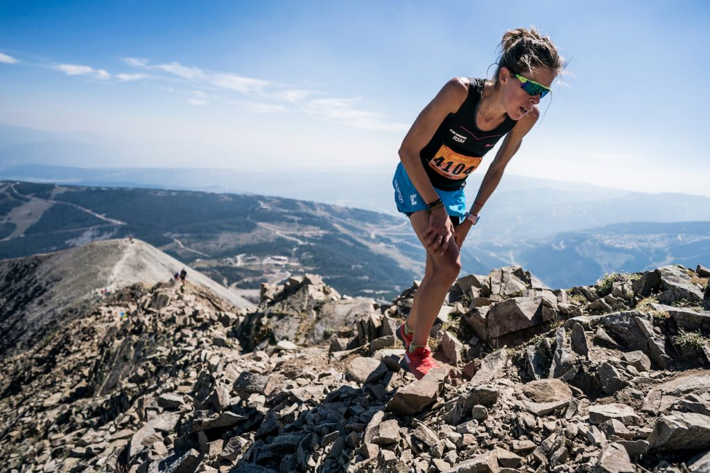 Laura Orgué, three-time winner at Lone Peak Vertical Kilometer, does it again. ©iancorless.com / SWS
