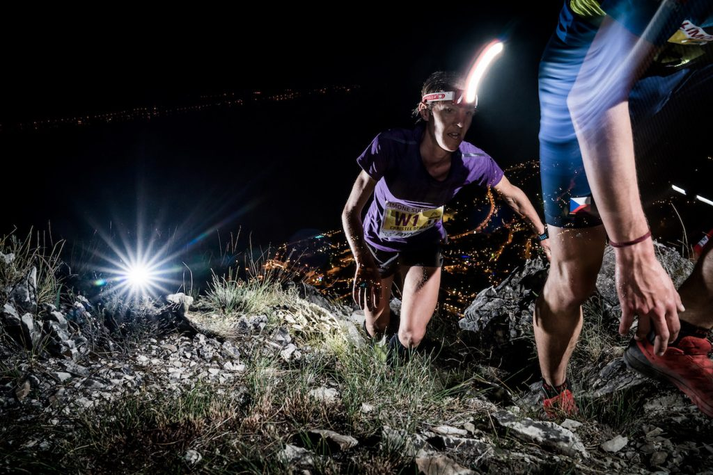 Christelle Dewalle, twice race winner at Grèste de la Mughéra Vertical Kilometer®.  ©iancorless.com / VKWC