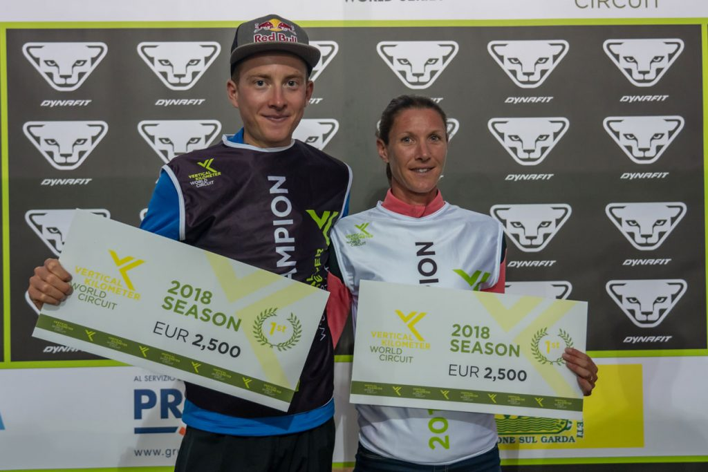 2018 Vertical Kilometer® World Circuit champions Rémi Bonnet and Christel Dewalle ©VKWC