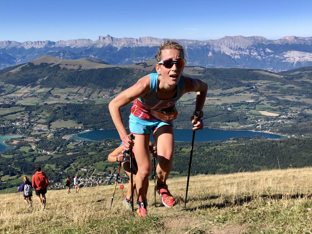 Jessica Pardin, 2019 winner of the Vertical Kilometer World Circuit ©VKWC